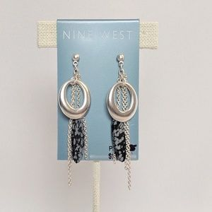 Nine West Silver Hoop & Dangles Earrings New!